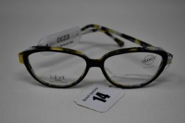 A pair of as new Lafont glasses frames with clear glass (RRP £230).