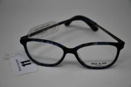 A pair of as new Paul & Joe glasses frames with clear glass (RRP £260).