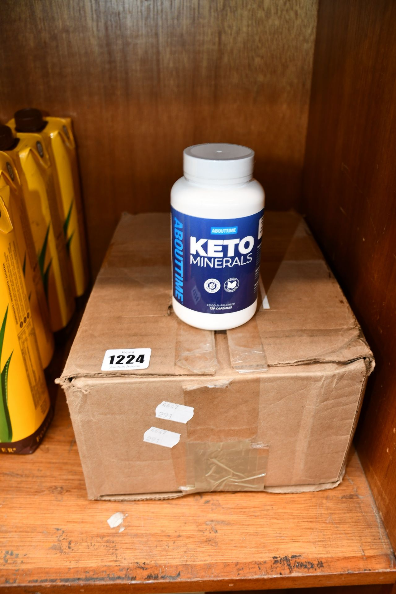 Lot 1224 - Twelve tubs of Abouttime Keto Minerals (120 capsules each, expires: 03/22).