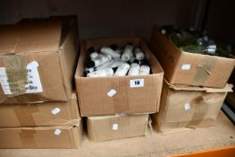 A quantity of miscellaneous basic hotel style soaps, shampoos and related items.