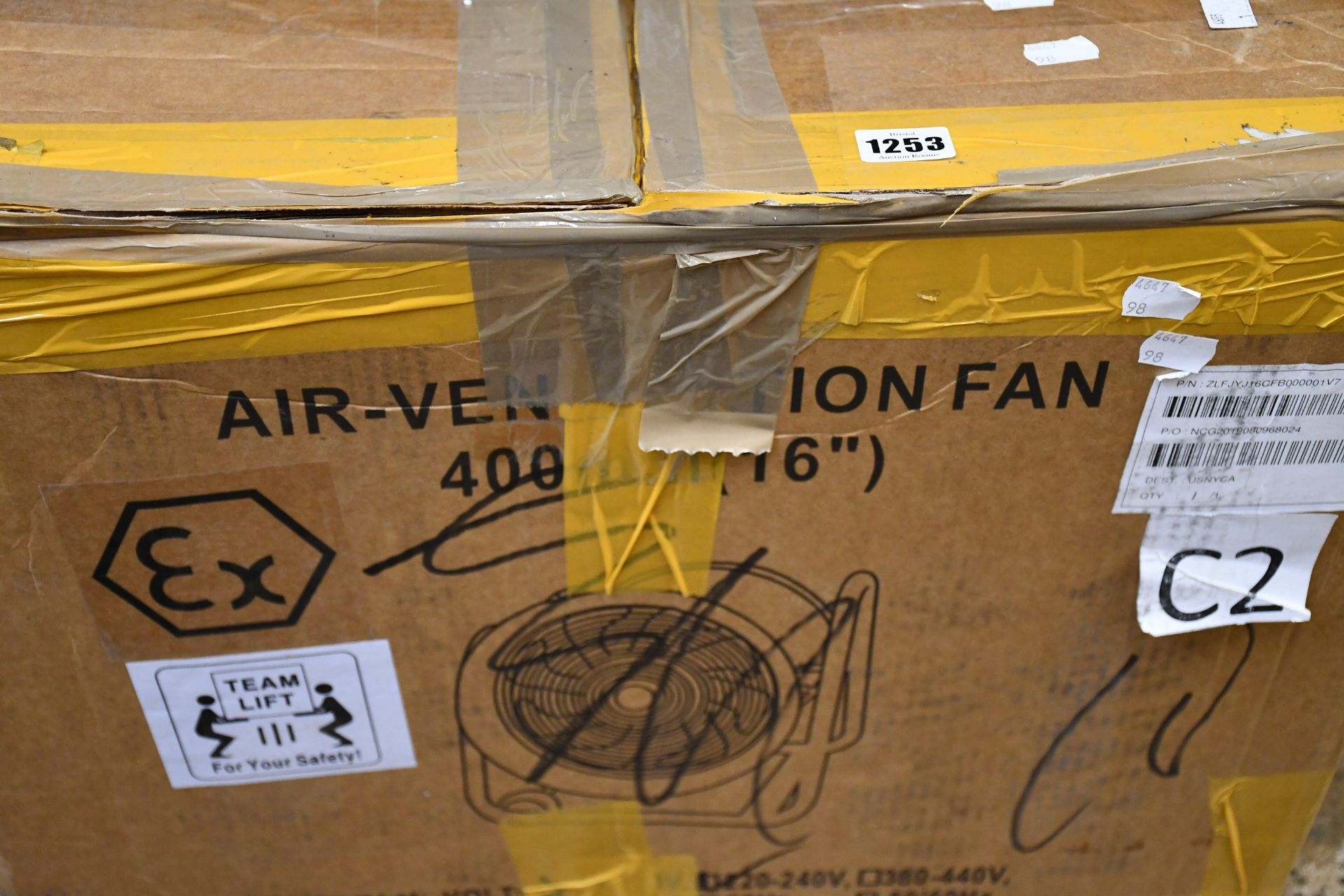Lot 1253 - One boxed as new BTF 40 explosion-proof air-ventilation fan (220-240V).