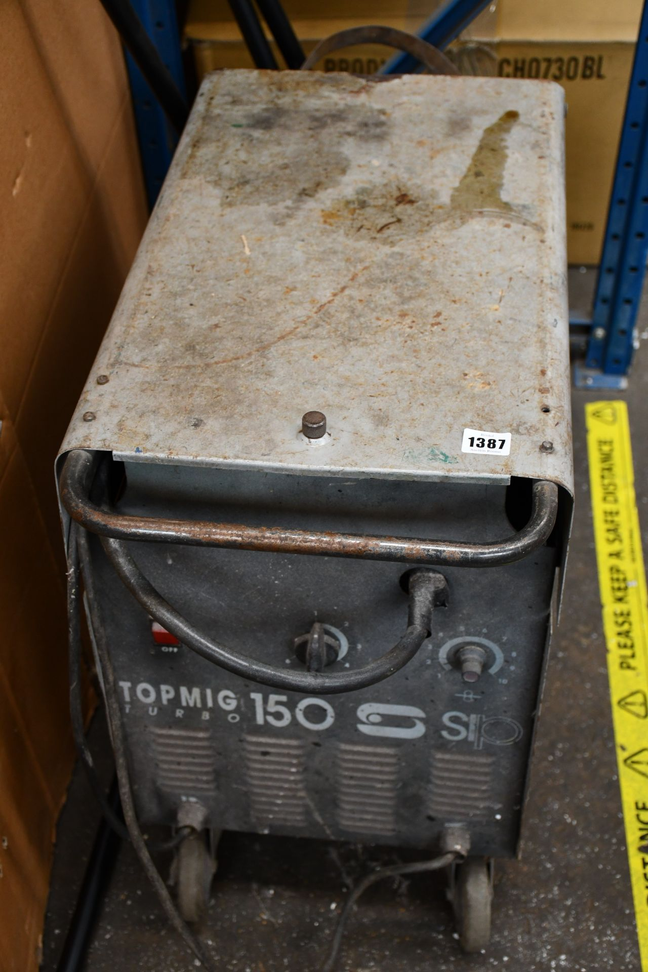 Lot 1387 - A pre-owned Top Mig Turbo 150 welder.