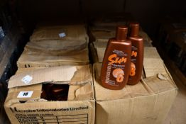 Eight boxes of Mediterranean Factor 6 tanning lotion.