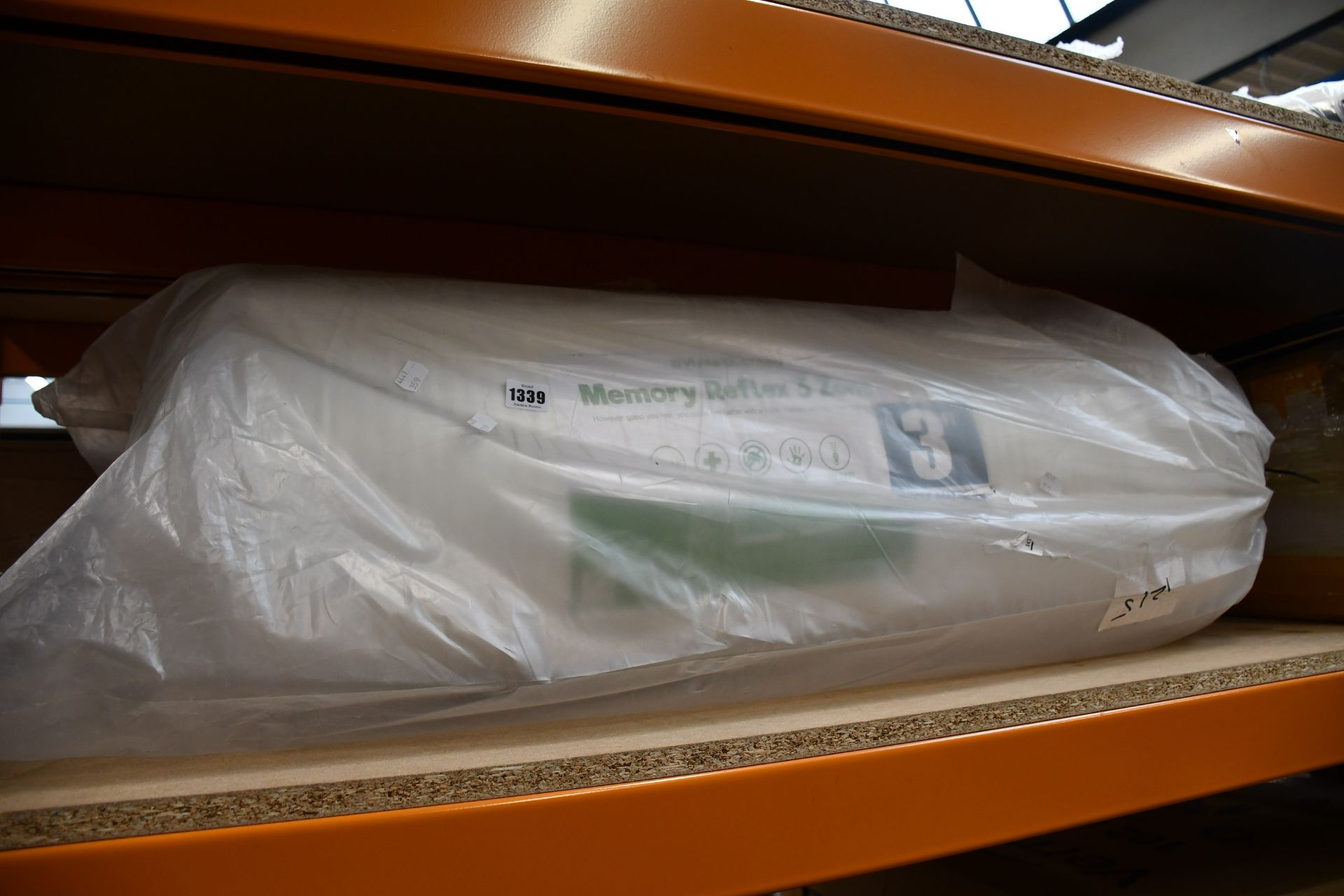 Lot 1339 - One as new Vista Therapy Memory Reflex 3 Zone single mattress.