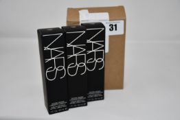 Nine boxed as new NARS Natural Radiant Longwear Foundation (30ml, Punjab).