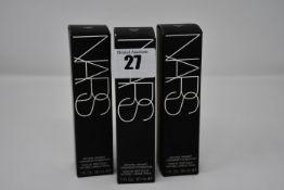 Nine boxed as new NARS Natural Radiant Longwear Foundation (30ml, Punjab, Mont Blanc, Santa Fe).