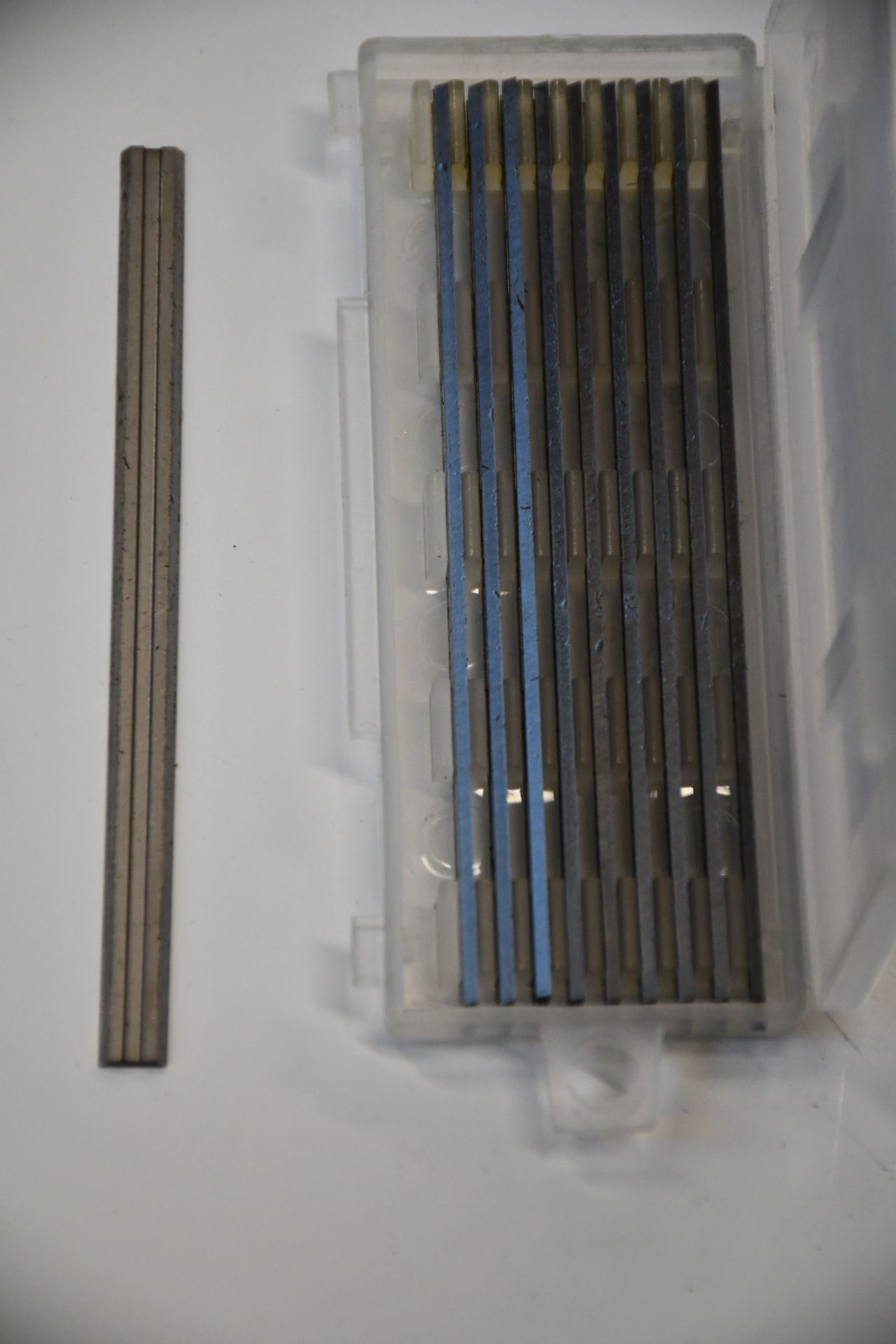 Lot 1309 - A large quantity of as new Wadkin Bursgreen planer blades (Approximately 100 packs of ten).