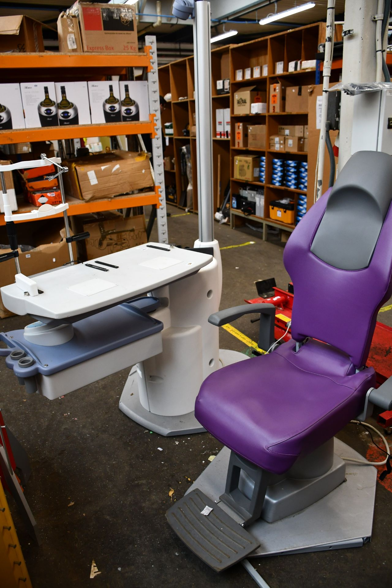 Lot 1260 - A Keeler compact refraction stand unit with chair.