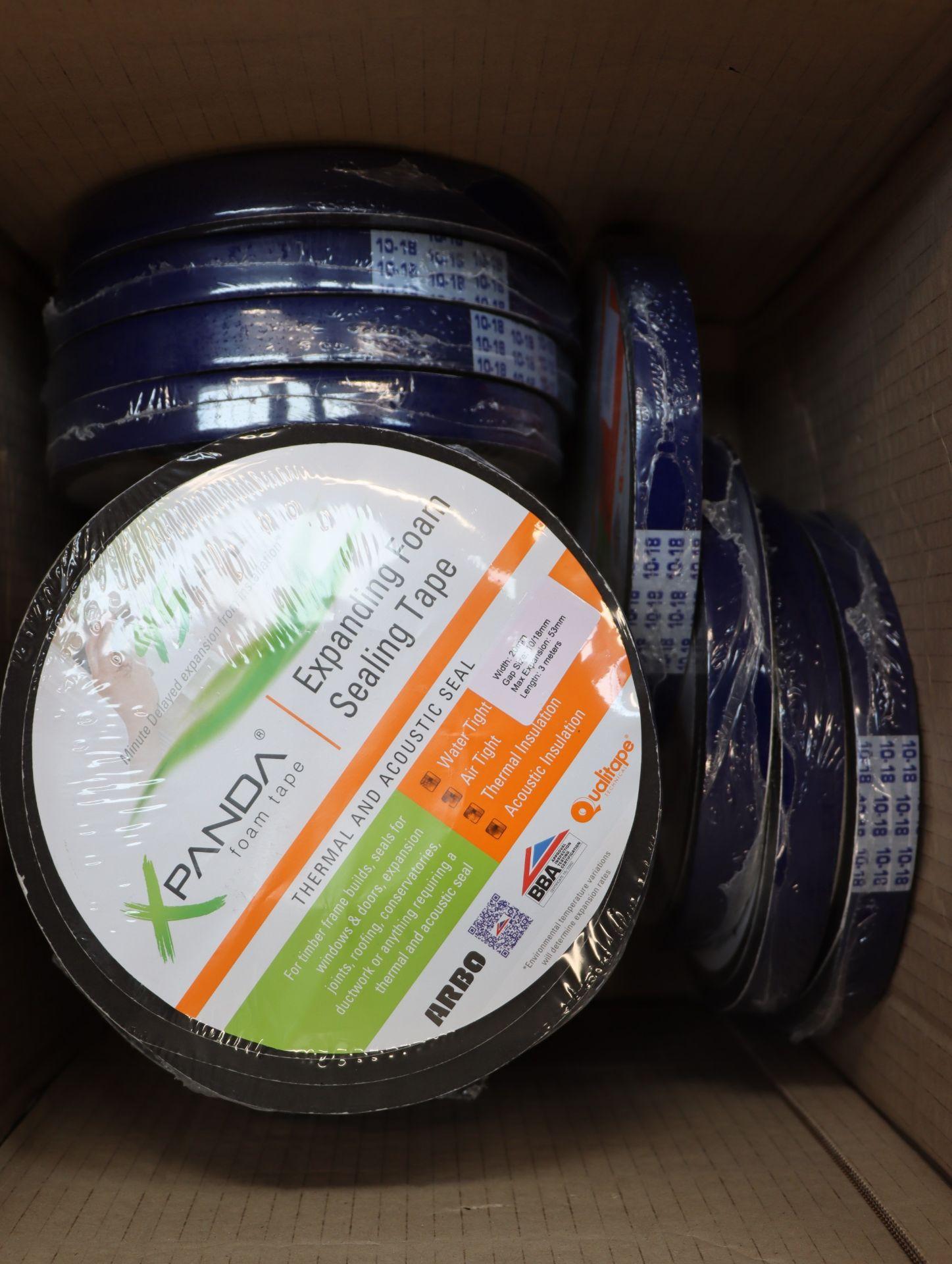 Lot 773 - Eigteen rolls of Expanda expanding foam sealing tape (10mm-53mm, 3m rolls).