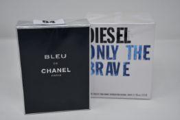 A Diesel Only the Brave eau de toilette (125ml) and a Bleu de Chanel eau de toilette (100ml).
