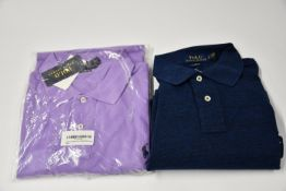 One as new Ralph Lauren polo one slim fit long sleeved classics blue polo top (XL) and one as new