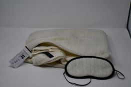 An as new Ralph Lauren cable Cashmere cream travel set.