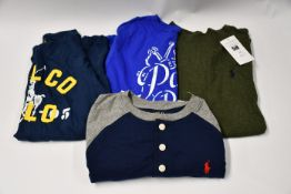Four as new youths Ralph Lauren assorted tops three long sleeved one short sleeved (Sizes 10-12).