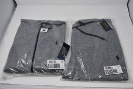 An as new Ralph Lauren men's summer 1 Grey full zip tracksuit hoodie top (S) and a pair of as new