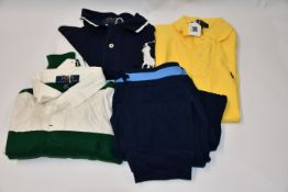 Two as new children's ralph Lauren polo tops (Sizes S, (M 10-12) ) and an as new children's Ralph