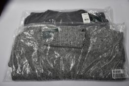 Two as new Ralph Lauren ladies chunky knit polar neck jumpers Grey/grey heather (Size S, M).