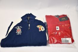 An as new children's Ralph Lauren full zip sweatshirt top with 722nd Air base wing Airbourne Div