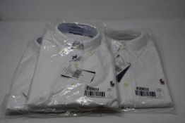 Three as new Ralph Lauren white oxford slim fit shirts ( Sizes 3 x Small).