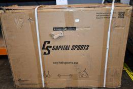 One boxed as new Capital Sports Evo air home exercise bike trainer (Model: FIT17-Evoair-BL).