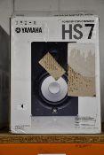 One boxed Yamaha HS7 Active Studio Monitor.