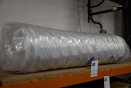One as new vacuum packed 4ft 6 mattress.