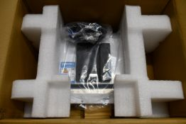 A boxed as new Aures J2 725 PCAP VGA White LCD POS Monitor (Box opened).