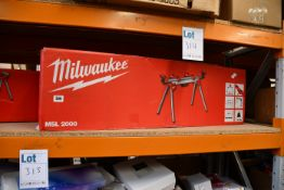 One boxed as new Milwaukee MSL 2000 Mitre Saw Stand.