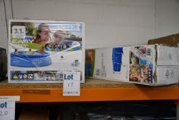 One boxed as new Intex 28271NP rectangular pool and one boxed as new Intex 28122UK easy set pool.