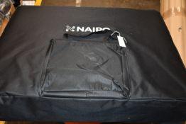 A Naipo three fold portable massage table with aluminium feet.
