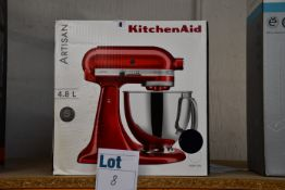 One boxed as new KitchenAid Artisan 4.8ltr mixer in blueberry (5KSM175PS).
