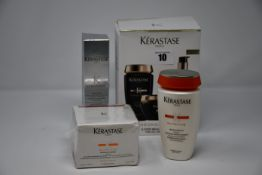 Four as new Kerastase Paris hair care products: 3-Step Beauty Ritual, Mutritive Masquintense (