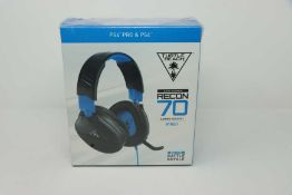 A boxed as new Turtle Beach Recon 70 Gaming Headset (3.5mm connection) (Box sealed).