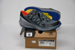 One pair of as new Salomon Sense Ride GTX Invisible Fit Trail Shoes size UK 8.5.
