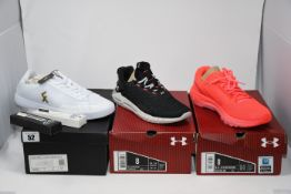 One as new Under Armour Women's UA HOVR STRT Sportstyle black Shoes size 8. One as new Under