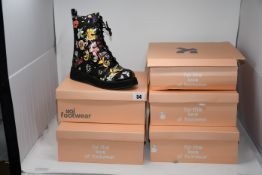One as new Koi Footwear Mizu Floral lace up boots size 5 (NNB8A). One as new Koi Footwear Mizu