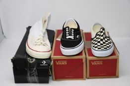 One as new Vans Era size UK 7 (3413177270). One as new Vans Classic Checkerboard size UK 4 (
