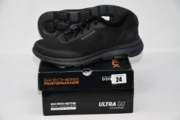 One pair of as new Skechers Go Walk 5 size UK 8.5 (216012/BKCC).
