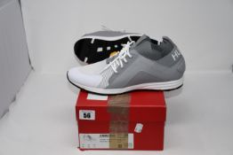 One pair of as new Hugo Boss Logo trainers with hybrid uppers and knitted sock size UK 10.