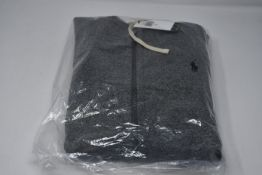 One as new Ralph Lauren Cotton Blend Fleece Hoodie Alaskan Heather size M (710548546005).