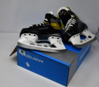 An as new pair of Bauer Supreme 3S Jr. Hockey Skates size 1.0.