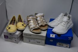 One as new Geox D Sand. Vega sand sandals size UK 5. One as new Adidas Swift run size UK 5 (