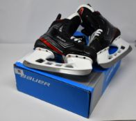 An as new pair of Bauer Vapor 2X Goalie Hockey Skates Junior size 4, fit 1 low volume (1054768).