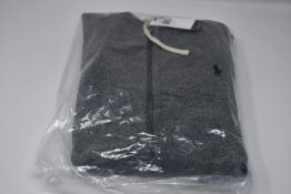 One as new Ralph Lauren Cotton Blend Fleece Hoodie Alaskan Heather size S (710548546005).