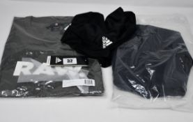 One as new Adidas Rise Up N Run Jacket size XL (DZ1575). One as new Adidas Own the Run 3 Stripes