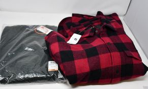 One as new Superdry Orange Label Crew Jumper in Black Cyprus marl size 3XL. One as new TEX Dark