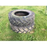 Pair Continental 380/85R28 tyres