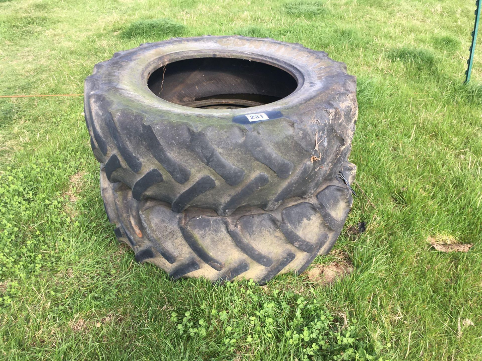 Lot 231 - Pair Continental 380/85R28 tyres
