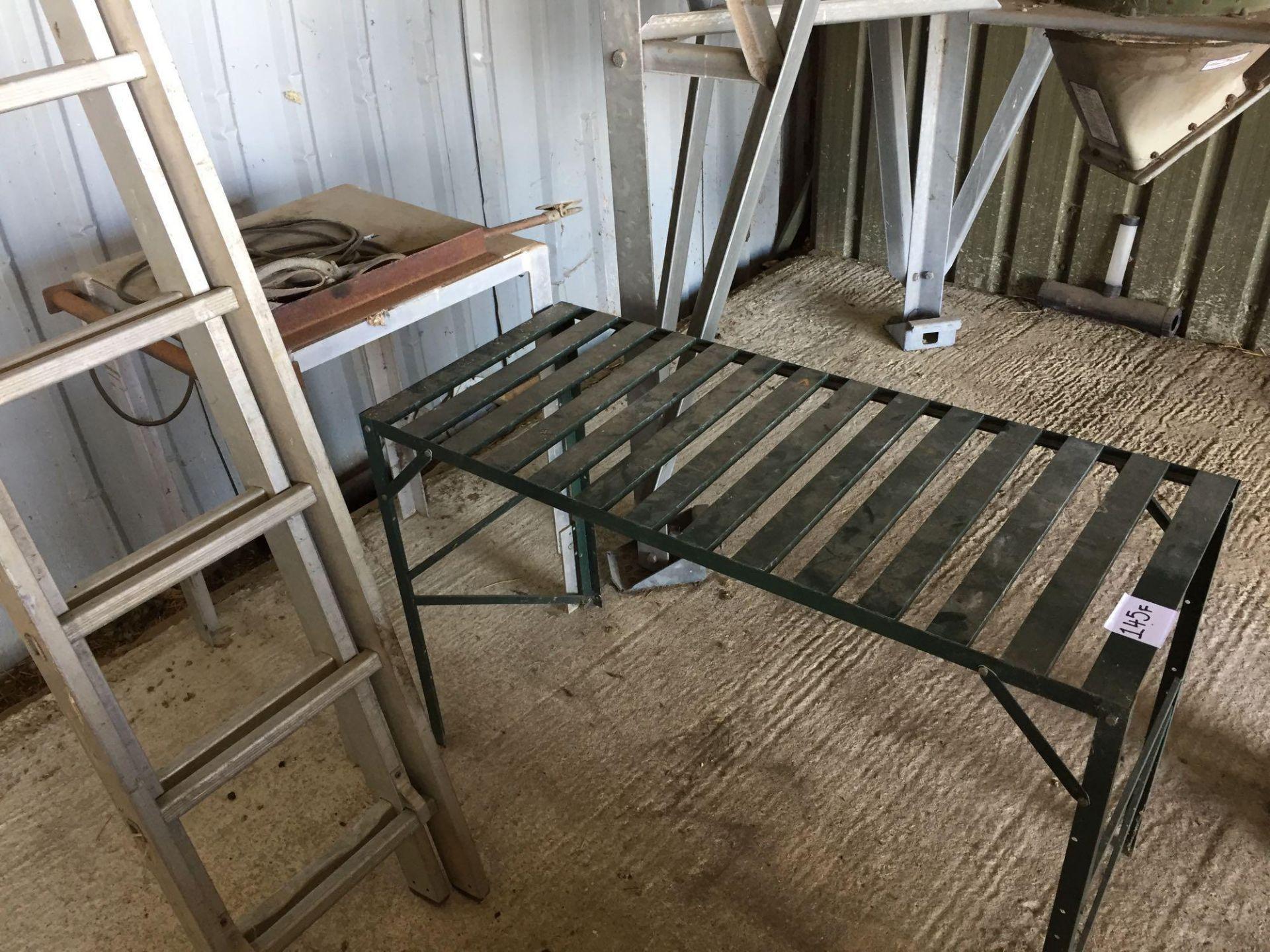 Lot 145f - Metal tables