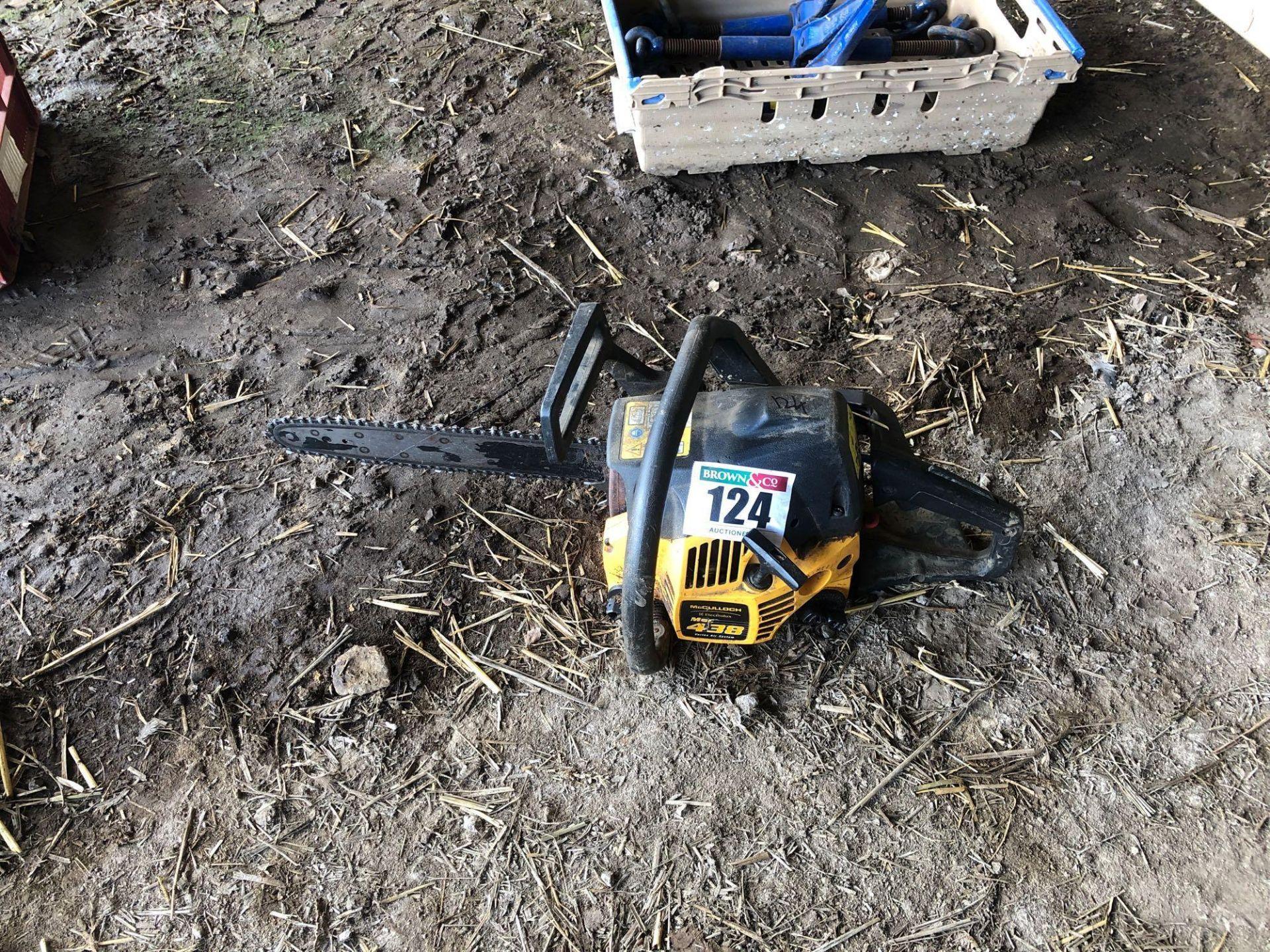 Lot 124 - McCulloch 438 Mac chainsaw