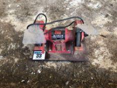 Power Devil bench grinder, single phase
